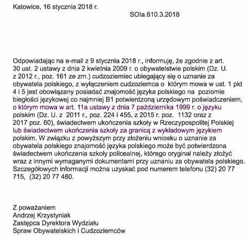 сertificate polska