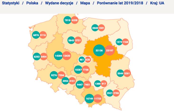 Screenshot_2020-01-02 Statystyki – Polska – Wydane decyzje – Mapa – Decyzja Negatywna – Porównanie lat 2018 2017 – Kraj UA [...](1)